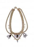 Cluster Bib Gem Necklace