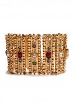 Antique gold Stone Pearl Bracelet