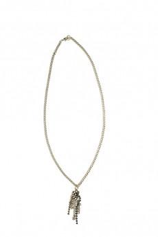 Blue Clear Pendant Long Necklace